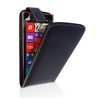 Yousave Zubehör Nokia Lumia 1520 Lederoptik Flip Case - schwarz