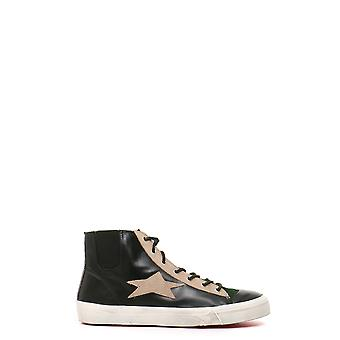 Ishikawa MCBI156007O ladies black leather Hi Top sneakers