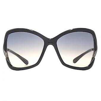 Tom Ford Astrid 02 Sunglasses In Shiny Black