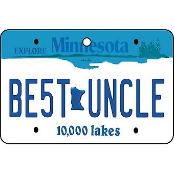 Minnesota - Best Uncle License Plate Car Air Freshener