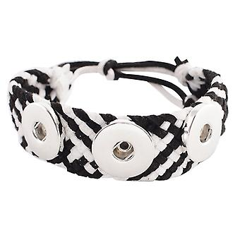Leather Bracelet For Click Buttons Kc0611