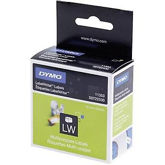 DYMO Labels (roll) 25 x 13 mm Paper White 1000 pc(