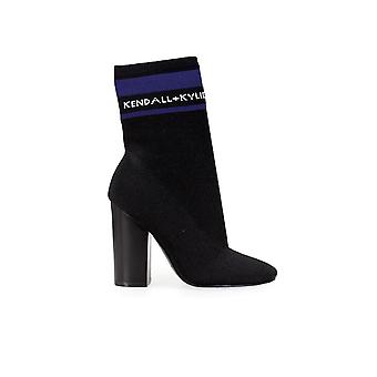 KENDALL + KYLIE HAILEY 2 STRETCH BLACK HEELED BOOT