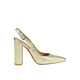Injection ladies MCGLCAT03103E gold leather heel shoes