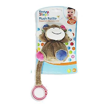 First Steps Plush Hanging Baby Rattle