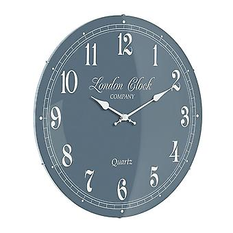 London Clock 1922 42cm Heritage Collection Emma Grey Dial Glass Wall Clock