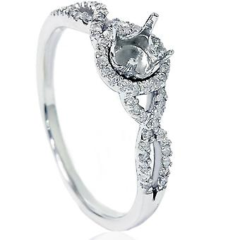 1/5ct Diamond Infinity Ring Setting 14K White Gold