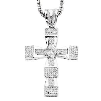 Iced out bling MICRO PAVE pendants - ICE BLOCK CROSS
