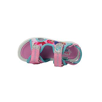 Girls Shimmer and Shine Pink Sports Beach Sandals Hook & Loop UK Size 5 - 10