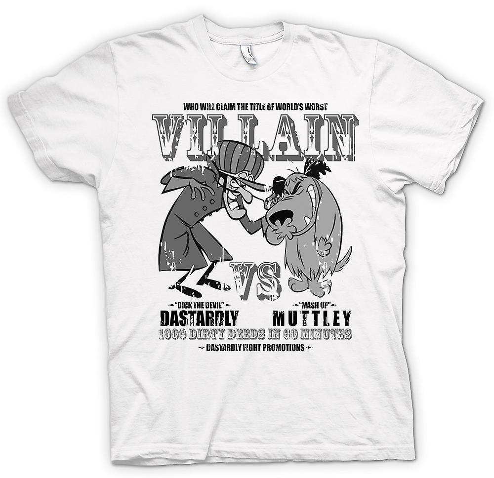 Womens T-shirt - Dastardly And Muttley - Villain - Funny
