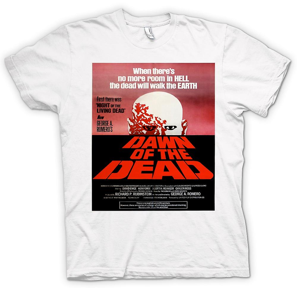Mens T-shirt - Dawn of the Dead Romero - affisch