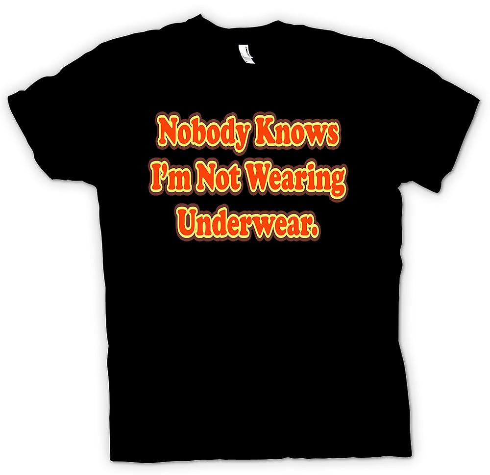 Kids T-shirt - Knowbody Knows I'm Not Wearing Underwear