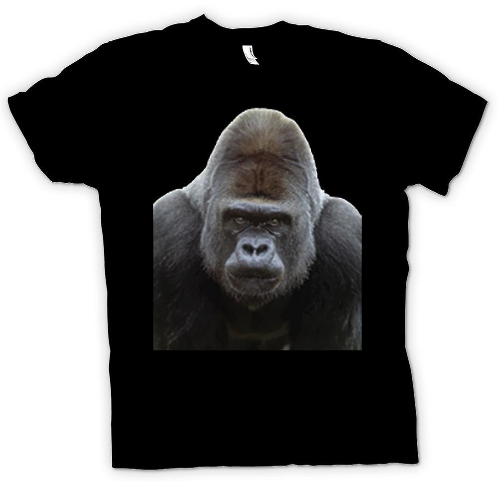 Womens T-shirt-Gorilla Zilverrug portret