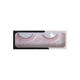 Make up och ögonfransar långa ögonfransar rosa med glitter