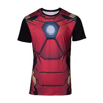 Marvel Comics Iron Man Mens Suit Sublimation T-Shirt Medium Multicolour
