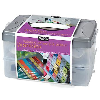 Pebeo Deco färg glänsande Workbox 10 x 45ml