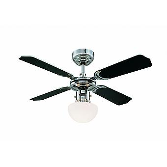 Loft Fan Portland stemning Chrome 90cm/36