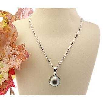 Collar de oro blanco con Perla de akoya