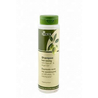 Pelo tonificación champú con aceite de oliva y aceite de argán (250ml).