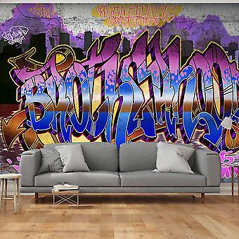 Behang - kleurrijke muurschildering