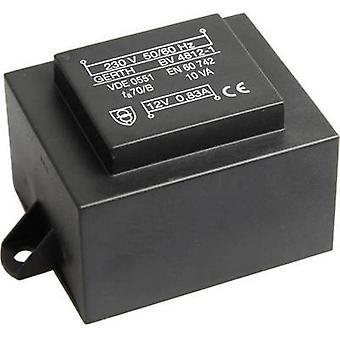 PCB mount transformer 1 x 230 V 1 x 18 V AC 10 VA 555 mA