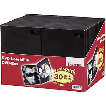 Hama DVD jewel case 1 CD/DVD/Blu-Ray Plastic Black 30 pc(s) (W x H x D) 14 x 191 x 134 mm