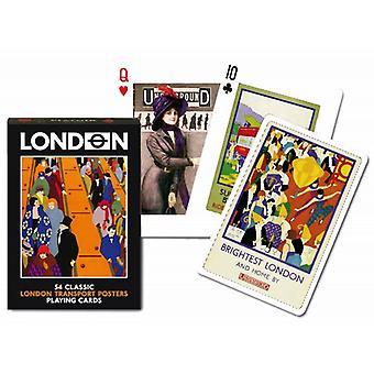 London Transport affiches jeu de cartes