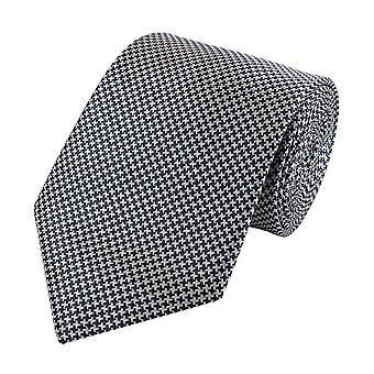 Schlips Krawatte Krawatten Binder Breit 8cm Grau Hahnentritt Optik Fabio Farini