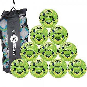 10 x Uhlsport training ball TRIOMPHÉO CLUB TRAINING includes ball sack
