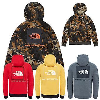 Noord gezicht mannen Hooded sweater Raglan rood vak
