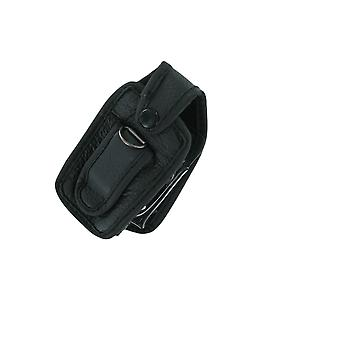 Wireless Solutions Standard Leather Case with Belt Clip for Nokia 6170 (Black)