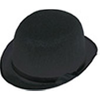 Accesorios de sombrero negro medio melón Halloween Carnaval