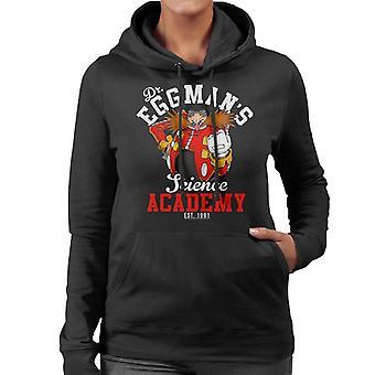 Dr Eggmans Science Academy Sonic The Hedgehog Women's Hooded Sweatshirt