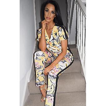IKRUSH Womens Kelsi Floral Belted Stretch Jumpsuit