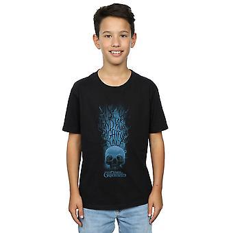 Fabeldyr gutter forbrytelser av Grindelwald Skull røyk t-skjorte