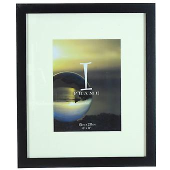 Juliana iFrame Wood Effect Photo Frame 6x8 - Black