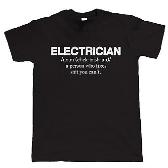 Electrician Mens Funny T Shirt - Gift for Dad