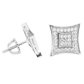 Iced Out Bling Micro Pave Ohrstecker - KITE 10mm
