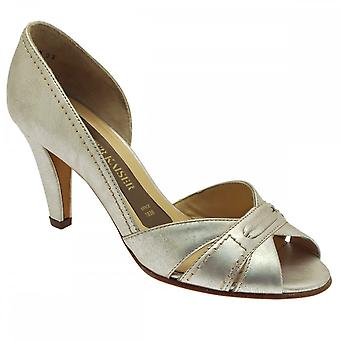 Peter Kaiser Peep Toe Side ut Heeled Court sko