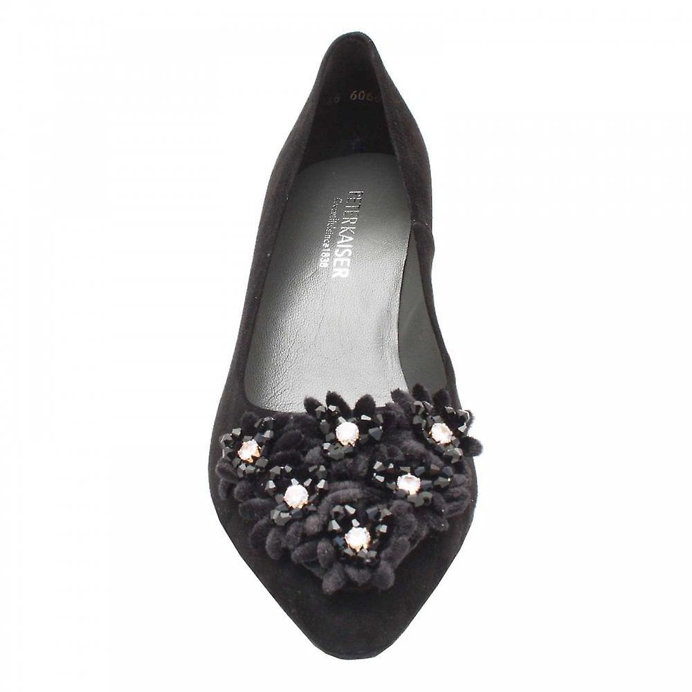 newest de6e1 771e7 Peter Kaiser Black Suede Leather High Heel Court Shoe