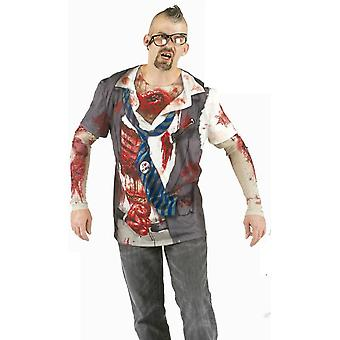 T-Shirt zombie horror shirt Mr costume Halloween zombie shirt costume men