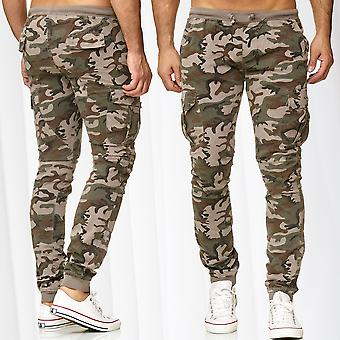 Men's Sweat Pants Cargo Jogging Trousers Camouflage Sport Army Military Pockets