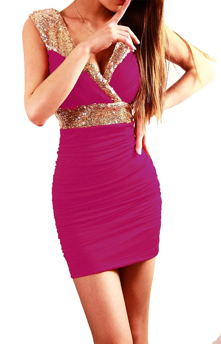 Waooh - Fashion - Dress clubwear Short collar with cover and sequins Heart