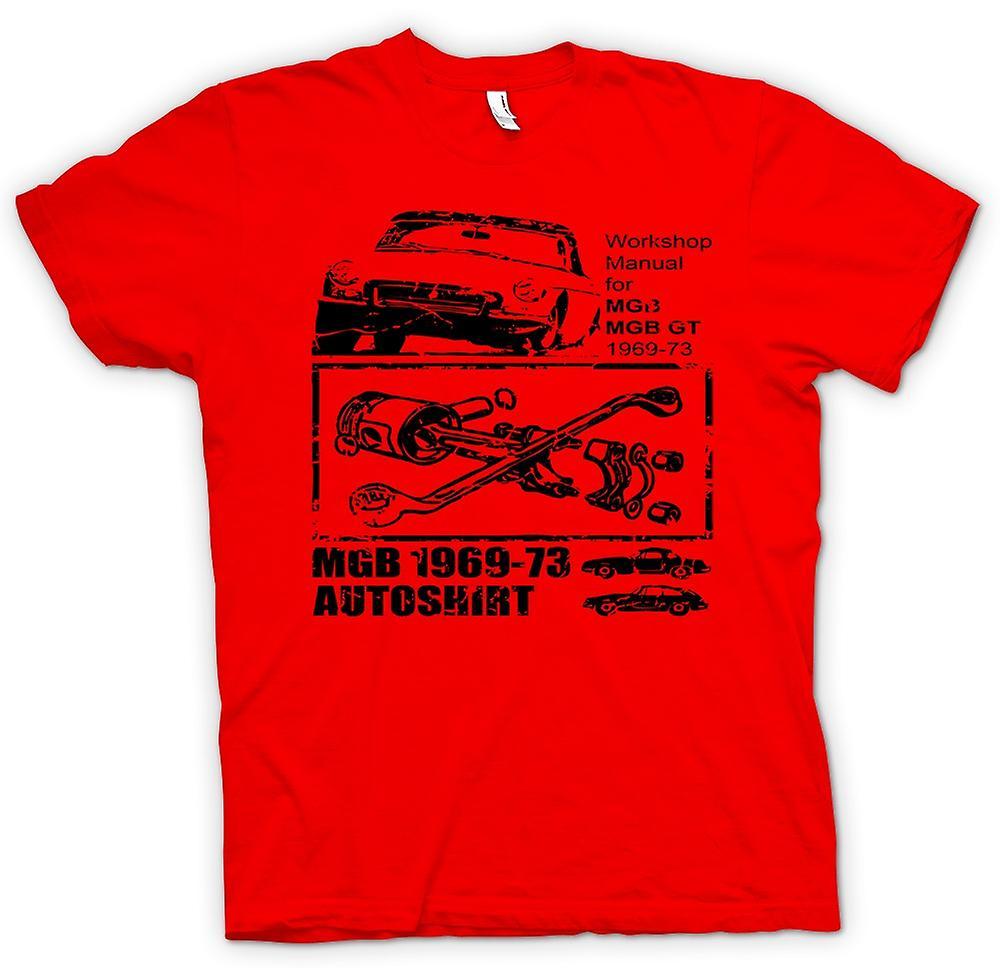 Heren T-shirt - MGB GT 69-73 - oldtimer