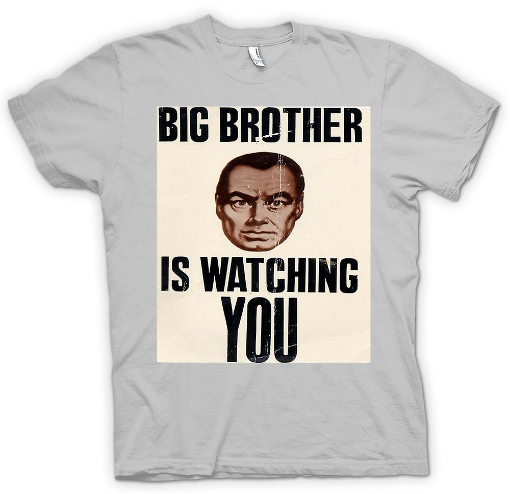 Heren T-shirt-Big Brother Is Watching You - Poster