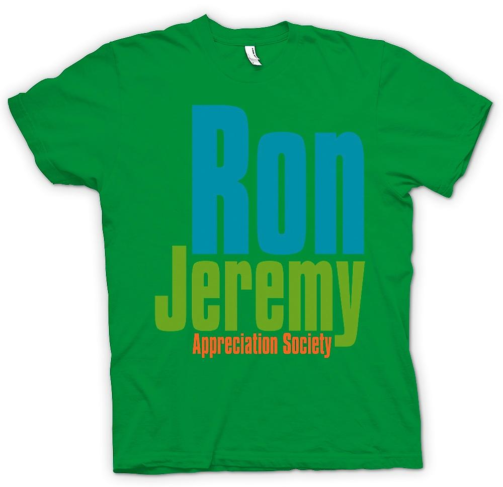 Mens T-shirt - Ron Jeremy Appreciation Society - lustig