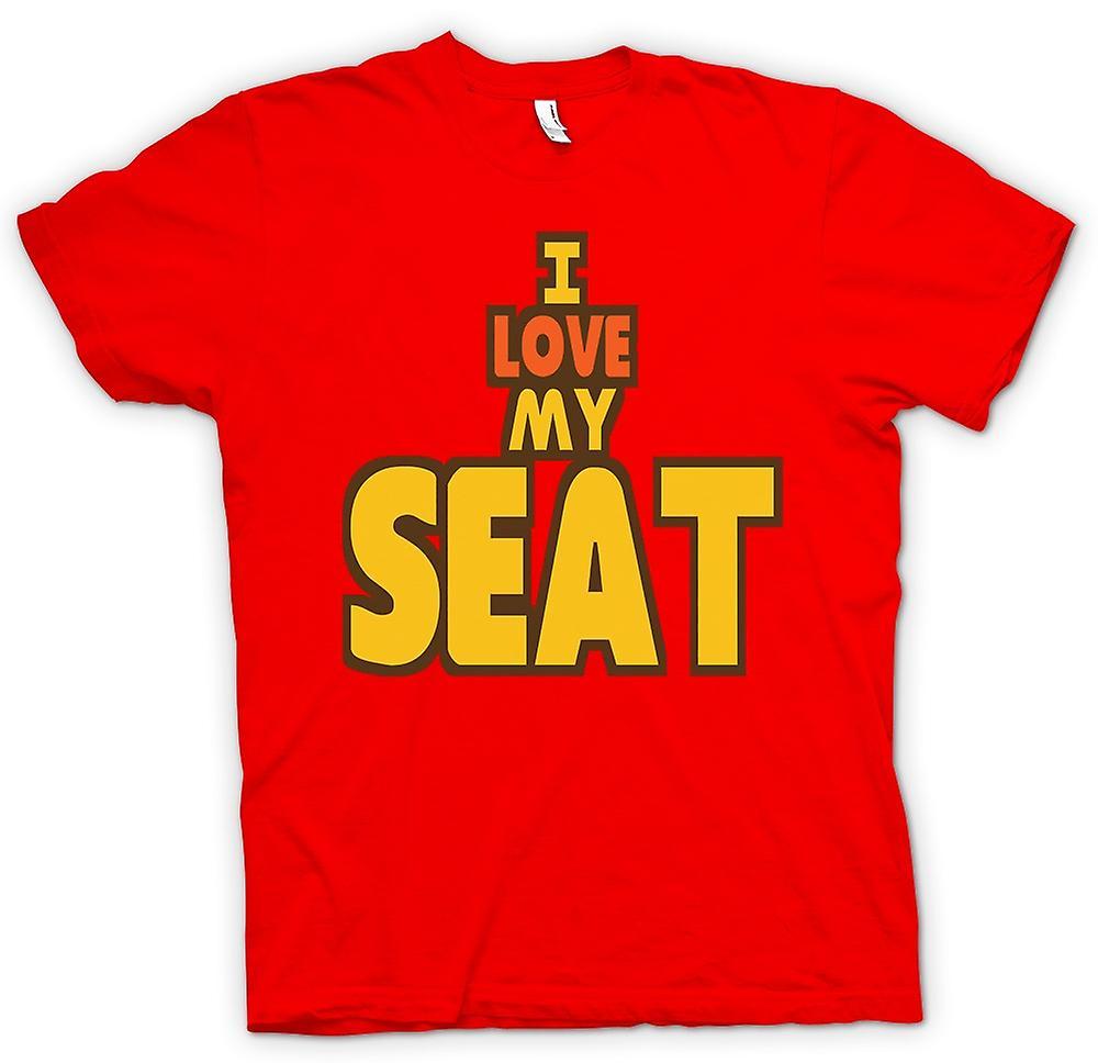 Camiseta para hombre - me encanta mi asiento - entusiasta del coche