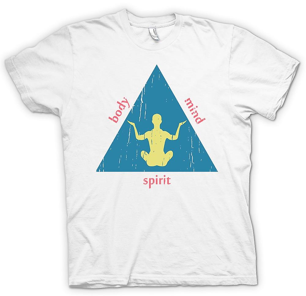 Mens T-shirt - Yoga - Mind - Body - Spirit