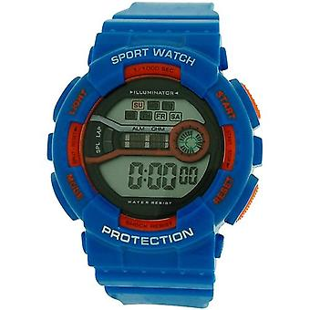 Reflex Boy's - Girls Digital Chronograph Blue & Orange Plastic Strap REF0095