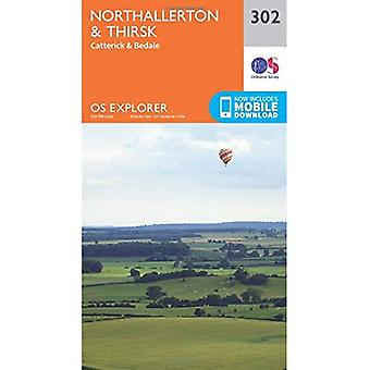 OS Explorer Map (302) Northallerton and Thirsk - Catterick and Bedale